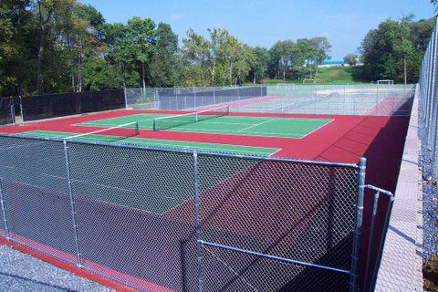 Tennis Court Galvenized Windscreen