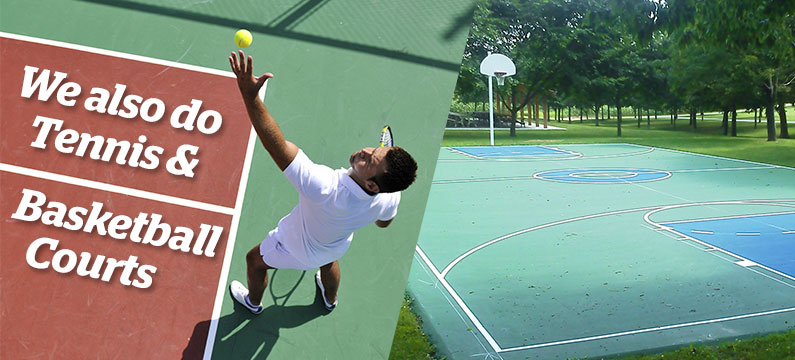 We Also Do Tennis & Basketball Courts