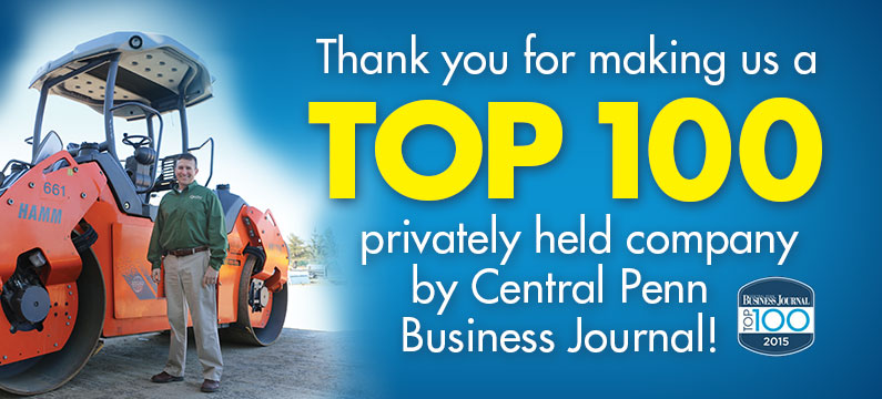 Thank you for making us a Top 100 privately held company by Central Penn Business Journal!